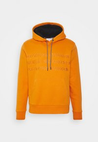 Calvin Klein - GRAPHIC EMBROIDERY HOODIE - Felpa con cappuccio - orange thunder - 0