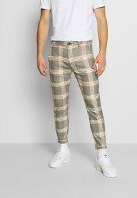 Gabba - PISA URBAN CHECK - Trousers - beige/orange - 0