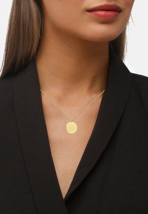 MIT ANHÄNGER TABULA POLIERT - Necklace - goldfarbend