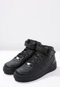 Nike Sportswear - AIR FORCE 1 MID '07 - Korkeavartiset tennarit - black - 2