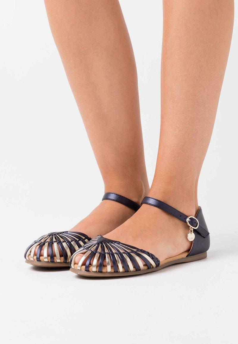 s.Oliver - Ankle strap ballet pumps - multicolour