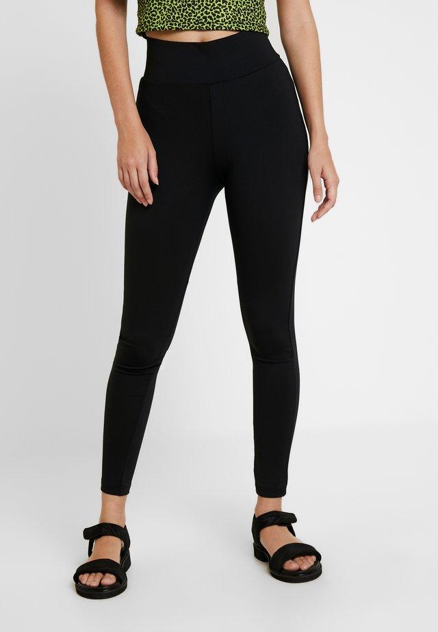 LADIES HIGH WAIST - Leggings - Trousers - black