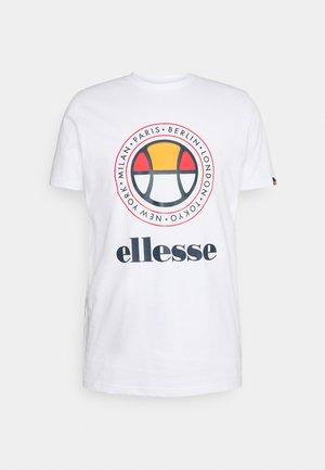 CAMPA TEE - T-shirt imprimé - white
