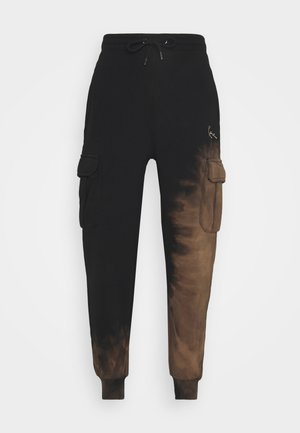 SMALL SIGNATURE BLEACHED UNISEX - Tracksuit bottoms - black