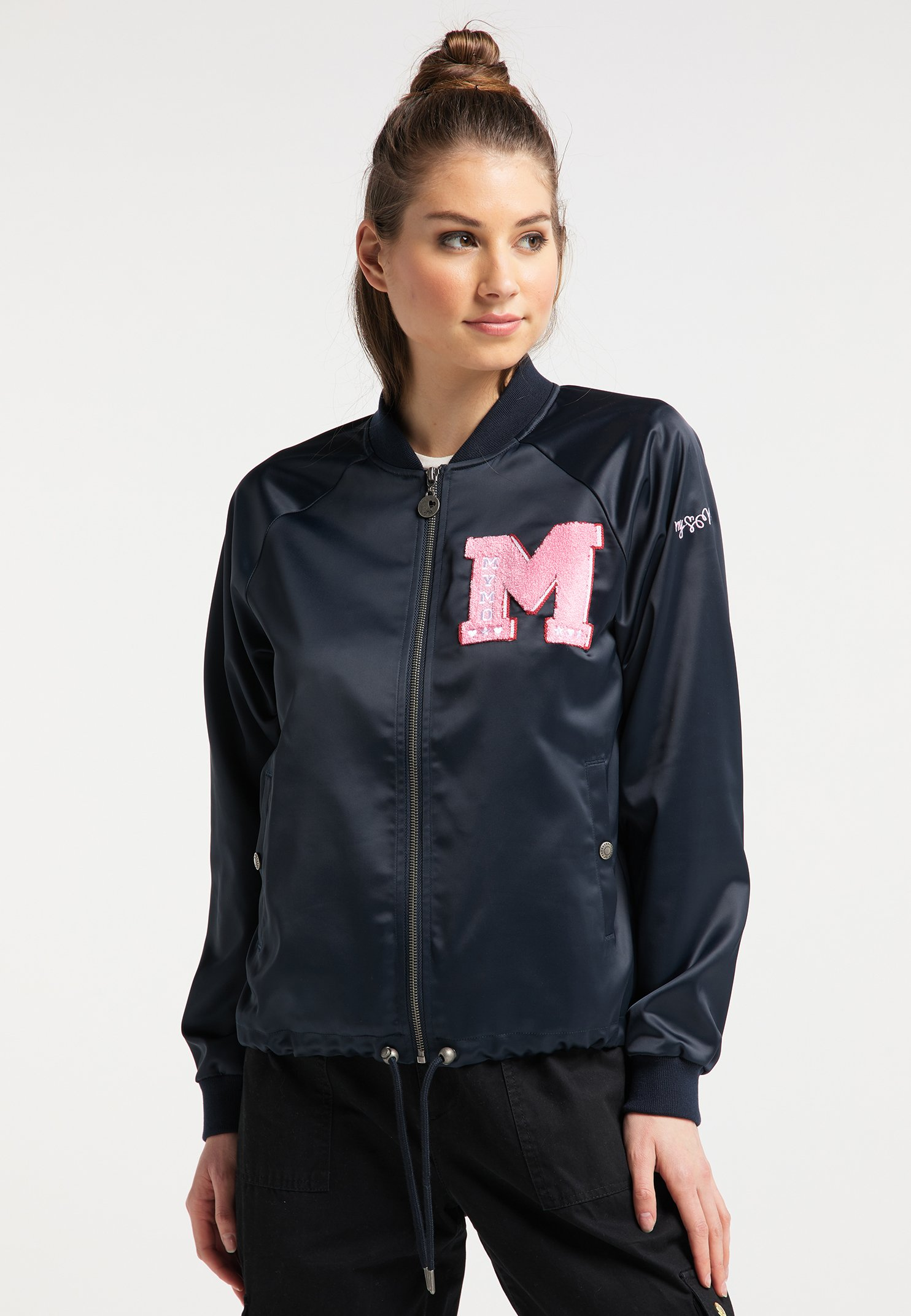 Best Place Women's Clothing myMo Bomber Jacket marine ofL4DsPrM