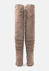 Zign - Overknee laarzen - beige - 3