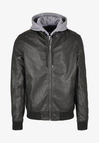 Urban Classics - MÄNNER - Faux leather jacket - black/grey - 8
