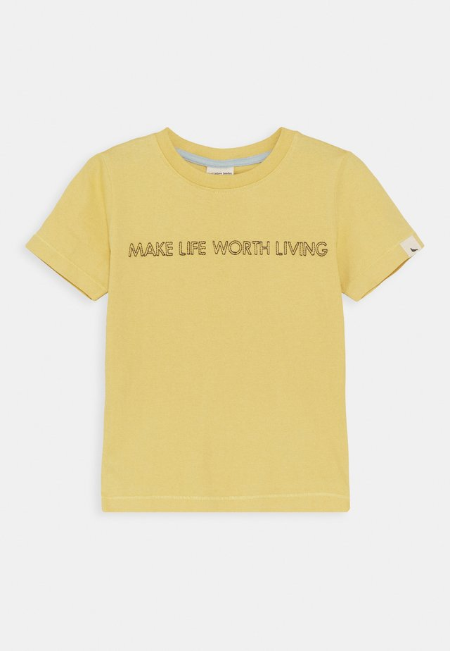 LIVING LIFE EMBROIDERED UNISEX - T-shirt print - sunshine