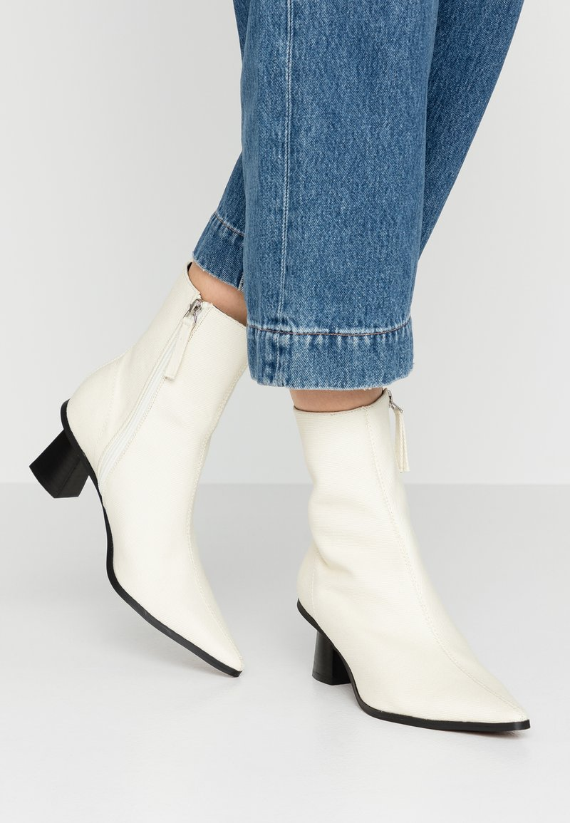 Topshop - MAILE POINT BOOT - Classic ankle boots - white
