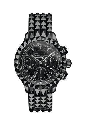 HERRENUHR EDELSTAHL, EDELSTAHL - Chronograph watch - schwarz