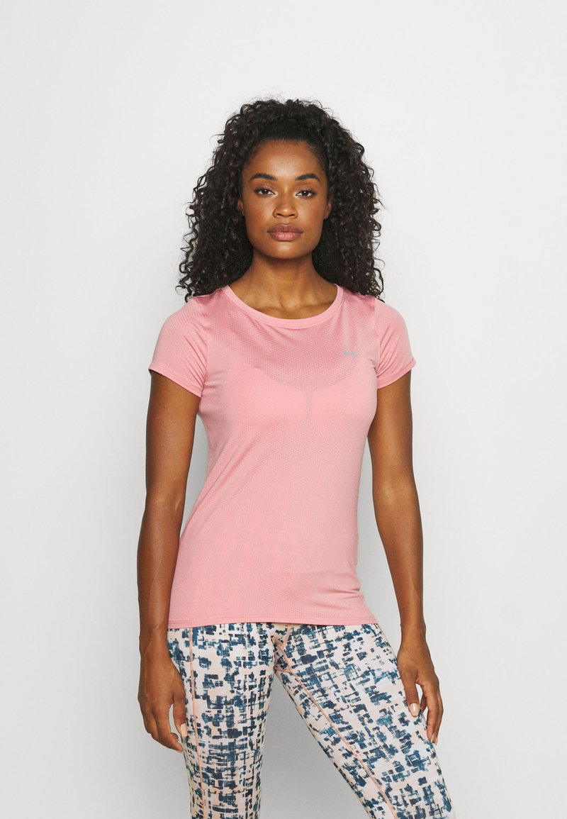 Under Armour - Jednoduché triko - pink/silver-coloured