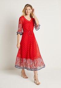 Cream - NALITACR DRESS - Robe longue - aurora red - 2