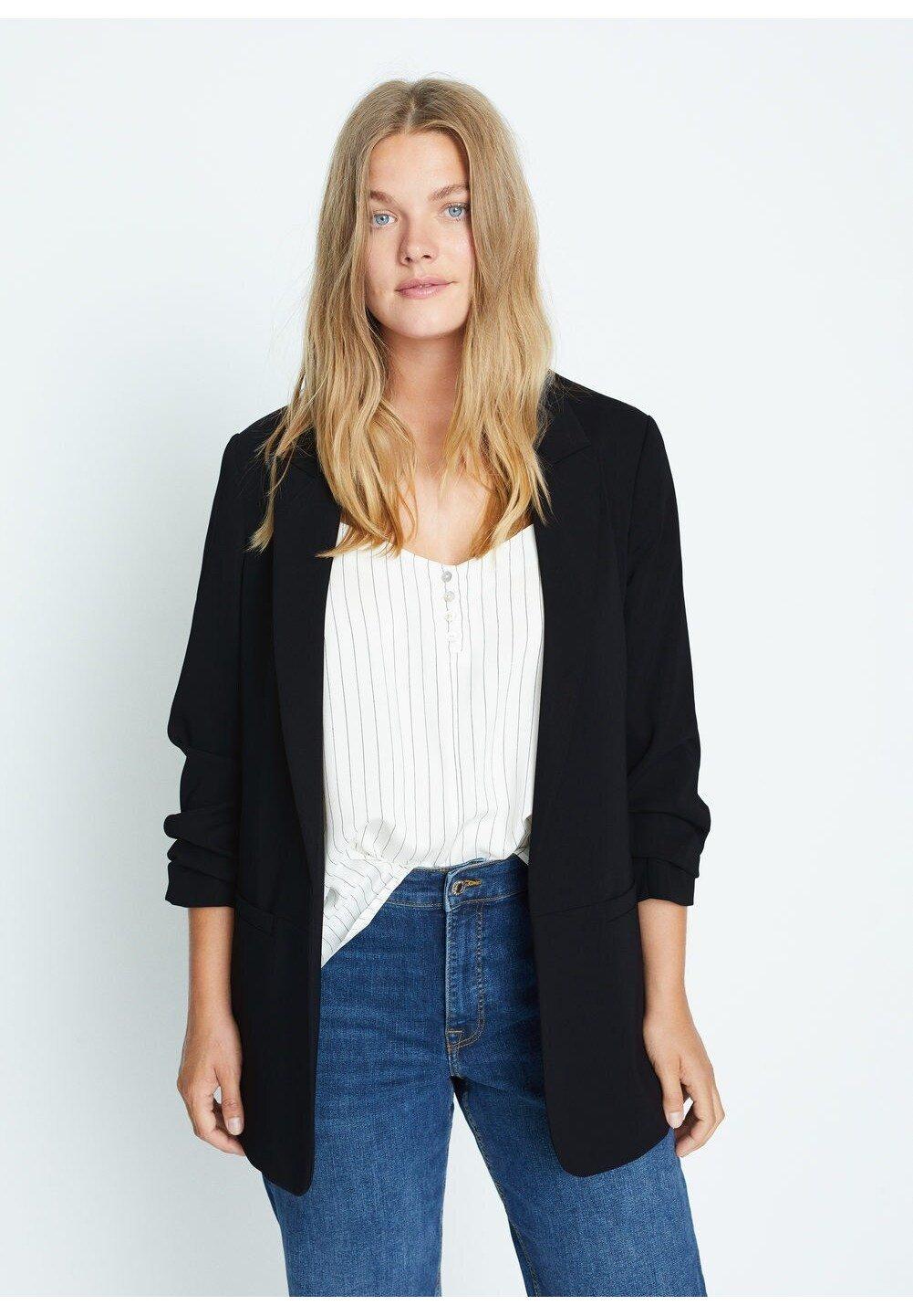 Shopping Women's Clothing Violeta by Mango FLOW7 Blazer dunkles marineblau wli3fZ5Gp
