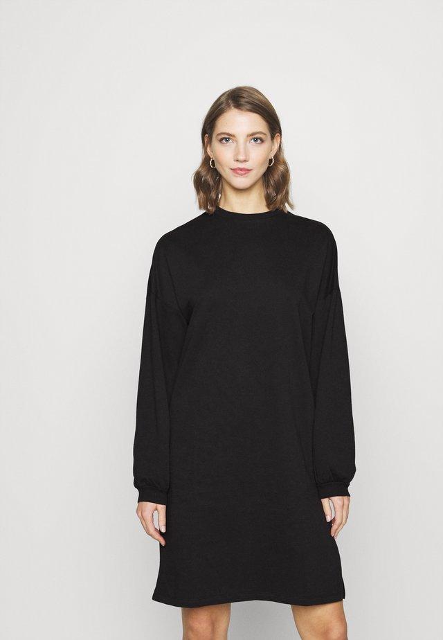 PERFECT SLIT DRESS - Freizeitkleid - black
