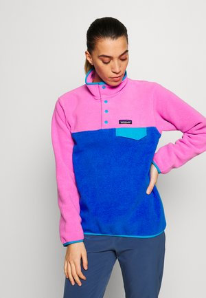 SYNCH SNAP - Fleece jumper - marble pink
