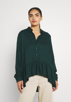 JDYSTAY HIGH LOW SOLID - Button-down blouse - ponderosa pine