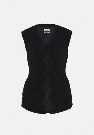 LINNEA PILE VEST - Waistcoat - black pile