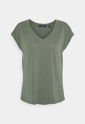 VMFILLI V NECK TEE - Basic T-shirt - laurel wreath