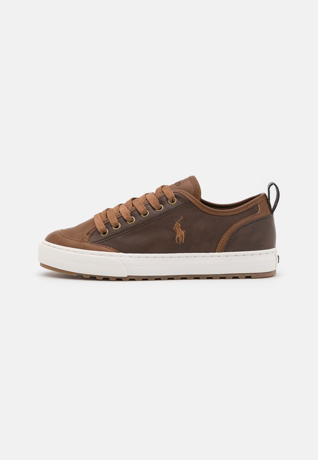ASHER - Sneakers basse - brown/tan burnished