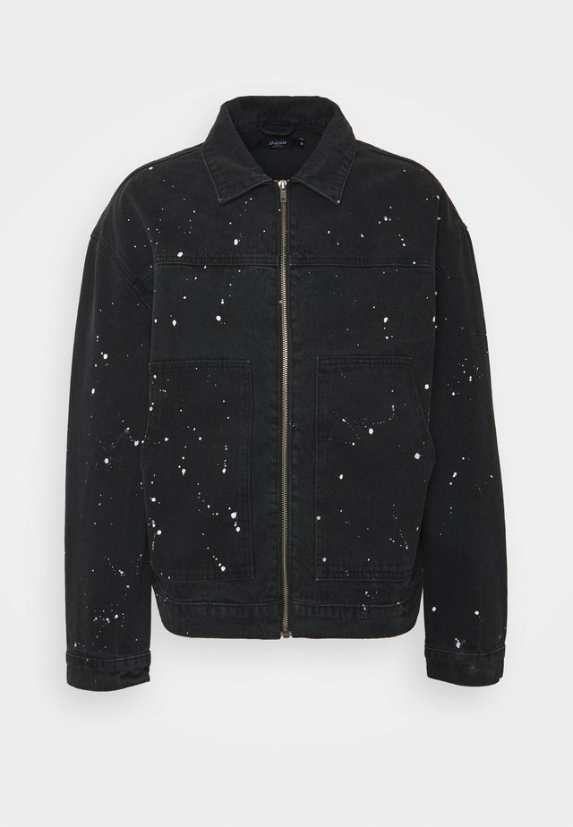 PAINT SPLATTERED CARPENTER JACKET - Kurtka jeansowa - black