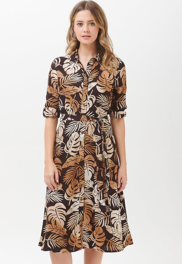 MERISSA COCOA PALM - Shirt dress - brown