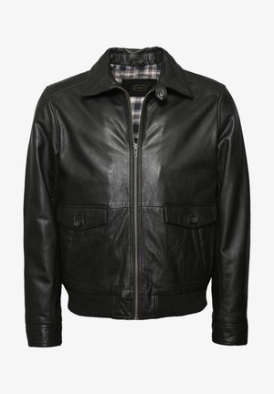 MIT BRUSTTASCHE SAMUEL - Leather jacket - black