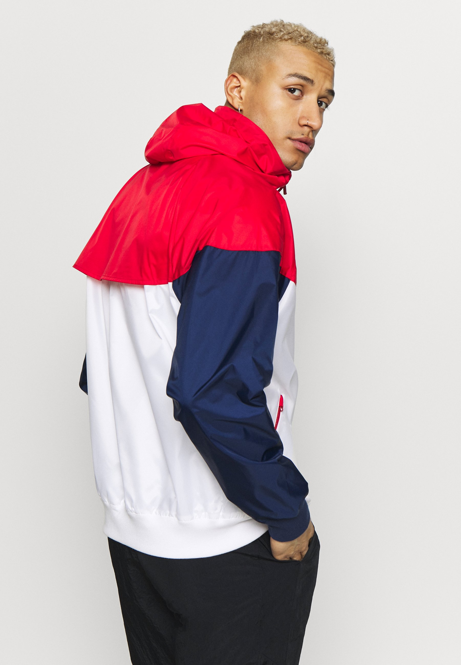 Affordable Huge Surprise Men's Clothing Nike Sportswear Windbreaker white/university red/midnight navy d4MGh5psf nLDSQs47F
