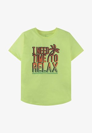 MIT PRINT - Print T-shirt - fiery lime neon green