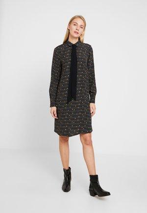 COLLAR BOW - Shirt dress - black