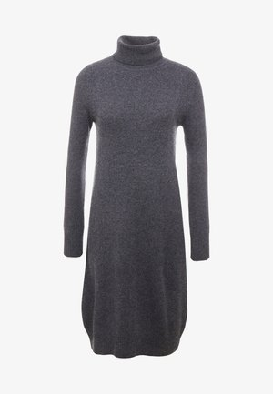 TURTLE NECK DRESS - Pletené šaty - graphite