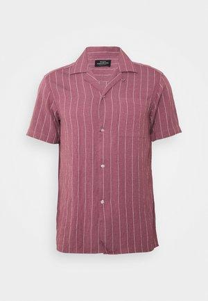 DRAPY STRIPE SHIRT - Skjorta - dark red