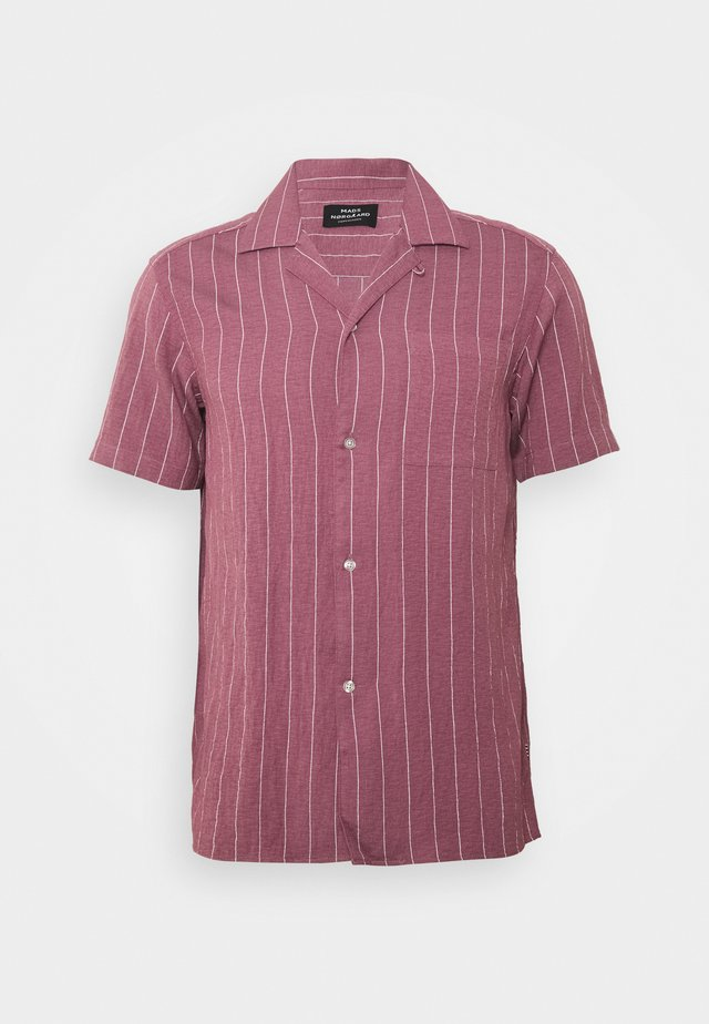 DRAPY STRIPE SHIRT - Skjorta - dark red