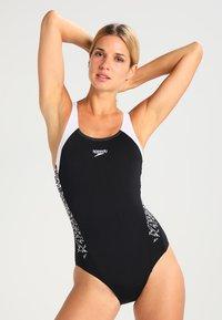 Speedo - BOOM  - Swimsuit - black/white - 1