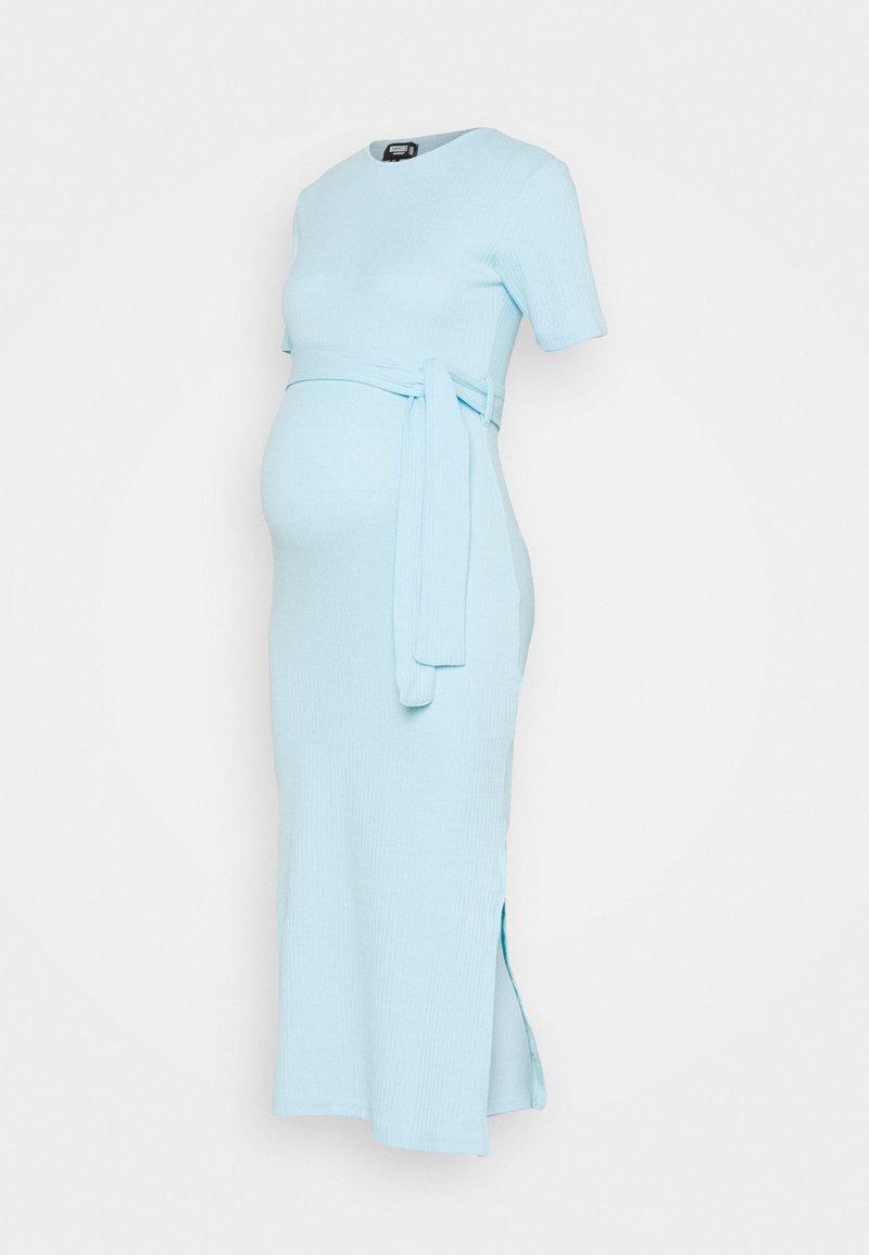 Missguided Maternity - SPLTSIDE MIDI DRSS - Maxi dress - blue