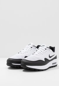 Nike Golf - AIR MAX 1 G - Obuwie do golfa - white/black - 2