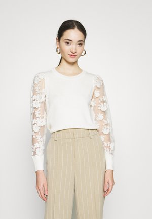 VMFLOWER O NECK - Jumper - birch