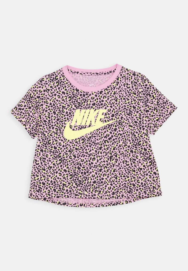 Nike Sportswear - TEE CROP  - Print T-shirt - pink rise/limelight