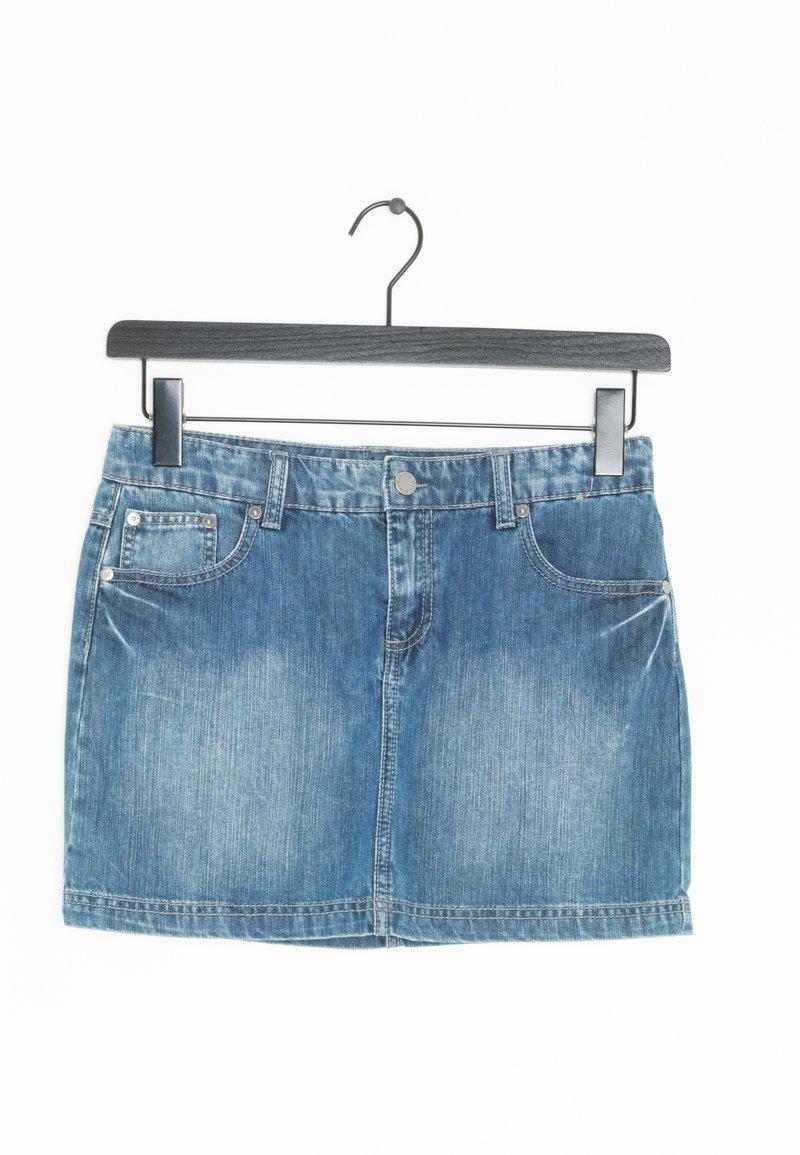Benetton - Spódnica jeansowa - blue