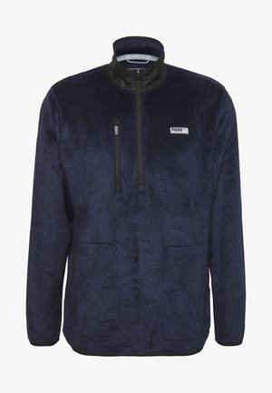 SHERPA ZIP - Fleece jumper - peacoat