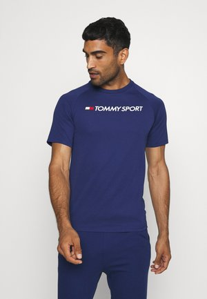 TRAINING BACK LOGO - T-shirt con stampa - blue