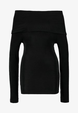 PCMULA OFF SHOULDER - Long sleeved top - black