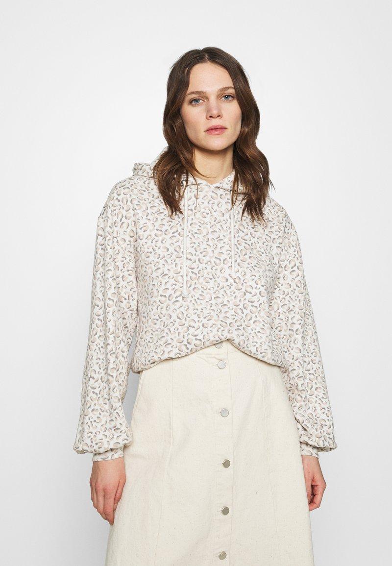 Abercrombie & Fitch - PATTERN POPOVER  - Sweatshirt - brown