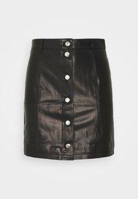 Iro - SKIRT - Kožená sukně - black - 4