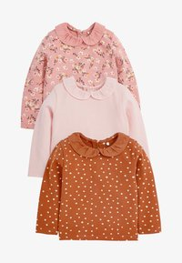 Next - 3 PACK - Long sleeved top - pink - 0