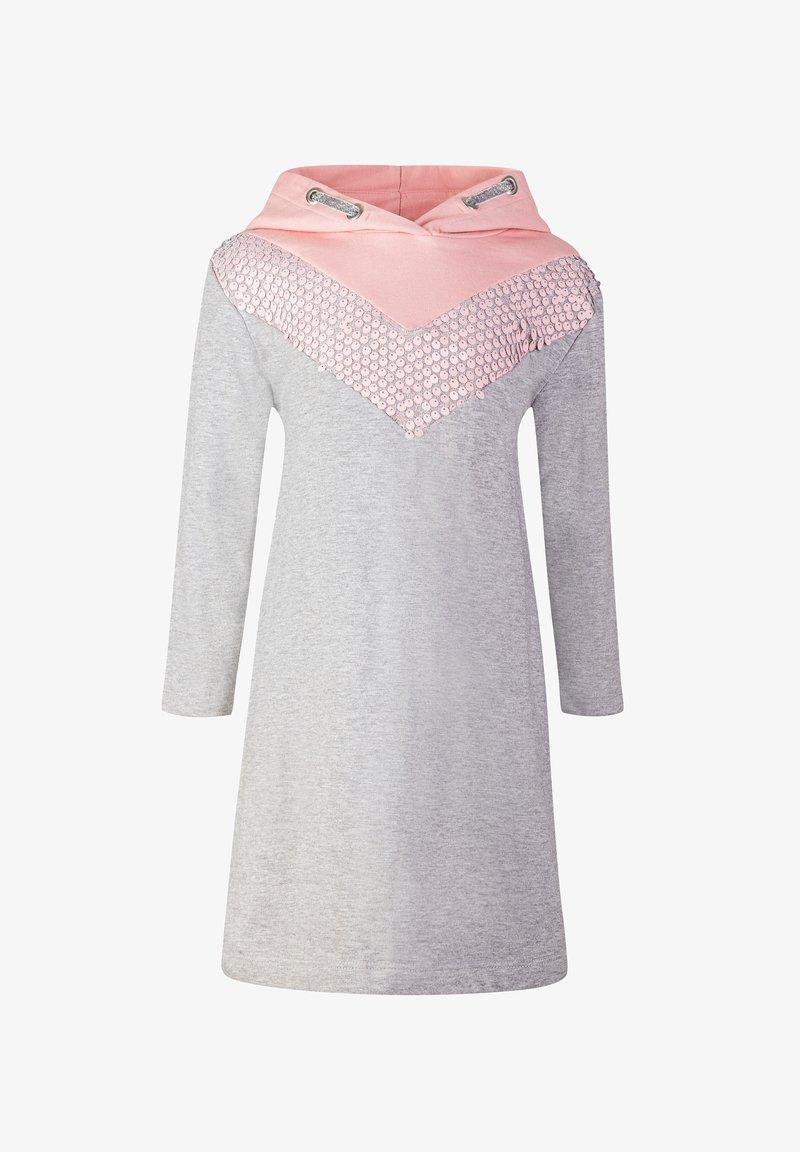 happy girls - Jersey dress - grey melange