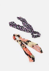Pieces - PCANIRA SCRUNCHIE 2 PACK - Håraccessoar - black - 0