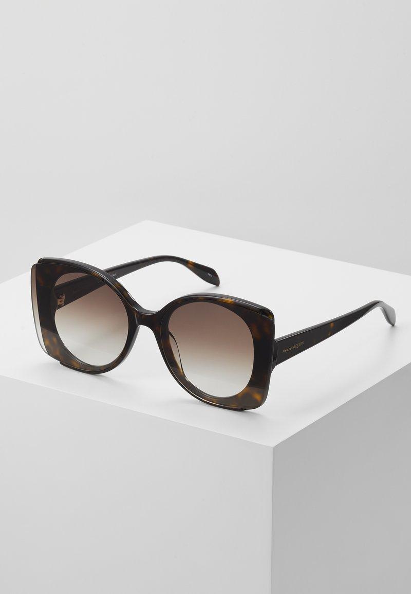 Alexander McQueen - SUNGLASS WOMAN - Sunglasses - havana brown