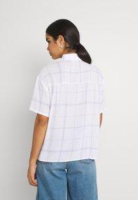 Weekday - URI SHIRT - Button-down blouse - whith/purple - 2