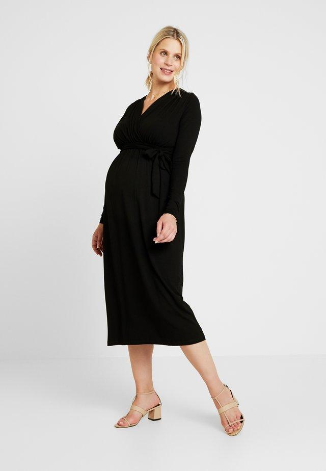 VOLTERA - Jersey dress - black