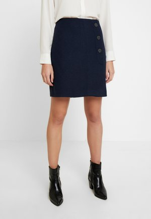 ASYMETRICAL - Wrap skirt - sky captain blue
